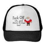 Rude Christmas Greeting Mesh Hat