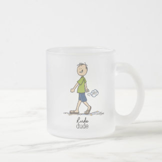 Rude Dude Humor Frosted Glass Coffee Mug