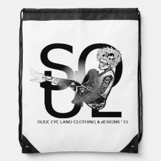 RUDE EYE LAND dESIGNS 1973 Drawstring Backpack