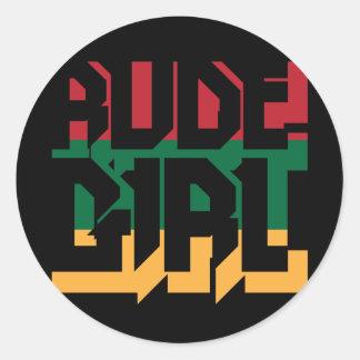 Rude Girl Classic Round Sticker