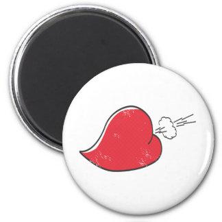 Rude Heart Fridge Magnet