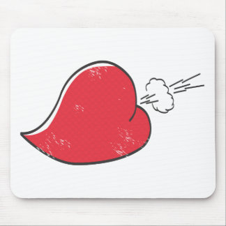 Rude Heart Mouse Pad