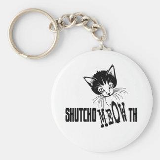Rude Kitty - Shut Your Mouth Key Chain