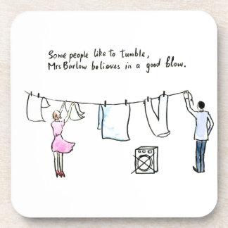 Rude Laundry Joke Good Blow Coaster