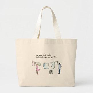 Rude Laundry Joke Good Blow Large Tote Bag