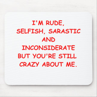 rude mouse pad