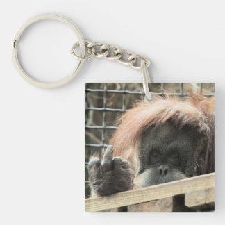 Rude Orangutan Keychain