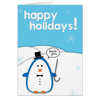 Rude Penguin: F*ck You Greeting Card