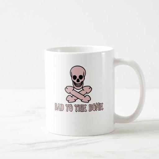 Rude skull and crossbones coffee mugs