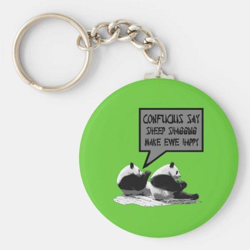 Rude slogan Confucius say Key Chains