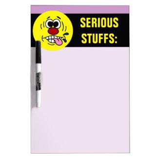 Rude Smiley Face Grumpey Dry Erase Board