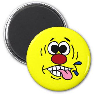 Rude Smiley Face Grumpey Magnet