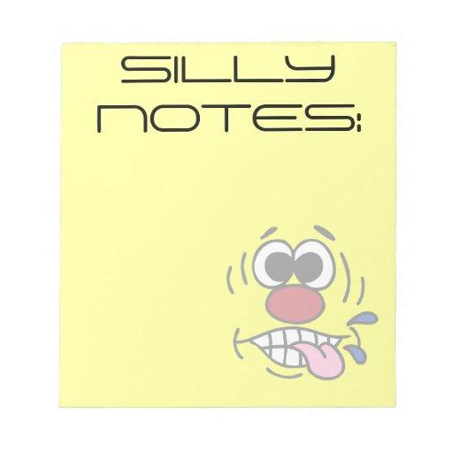 Rude Smiley Face Grumpey Memo Note Pads