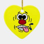 Rude Smiley Face Grumpey Ornament