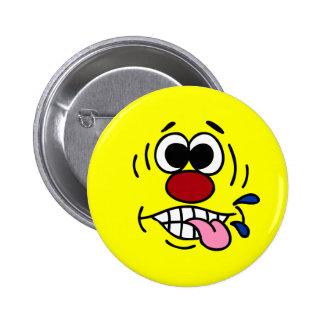 Rude Smiley Face Grumpey Pinback Button