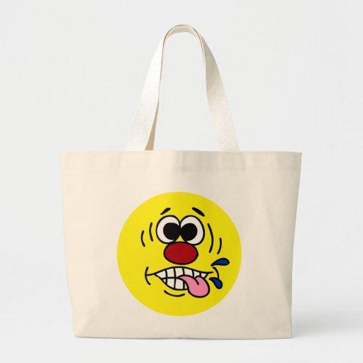 Rude Smiley Face Grumpey Tote Bag