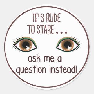 Rude Round Stickers