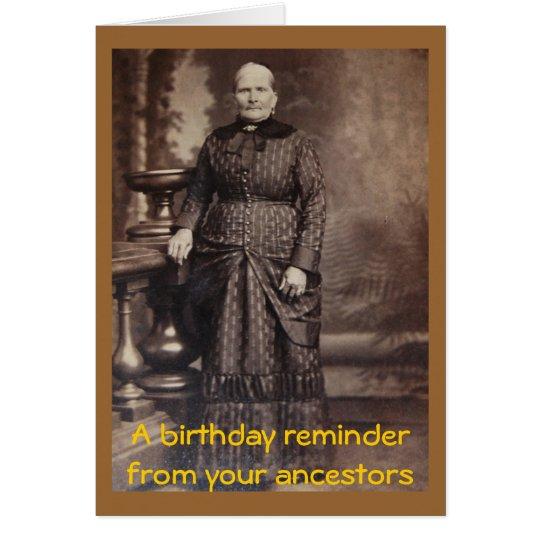 Rude Vintage Fun Happy Birthday Card