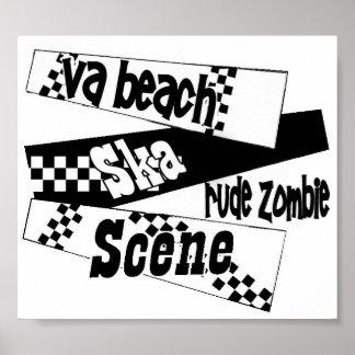 Rude Zombie ska scene poster