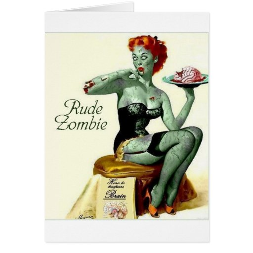 """Rude Zombie """"The First Bite"""" Card"""