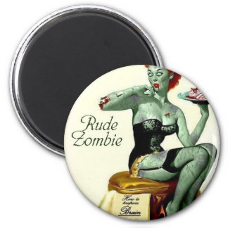 """Rude Zombie """"The First Bite"""" Magnet"""