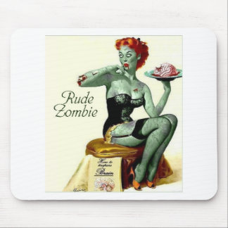"""Rude Zombie """"The First Bite"""" Mouse Pad"""
