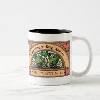 Rudesheimer Berg Auslese Vintage LIquor Label Mug