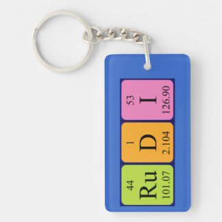 Rudi periodic table name keyring keychain