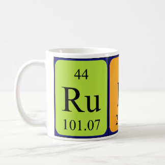 Rudi periodic table name mug