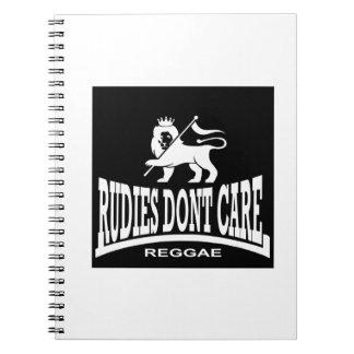 Rudies Don t Care - SKA - Rudeboys - Mods Spiral Note Book