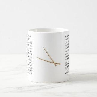 rudiments-sticks classic white coffee mug