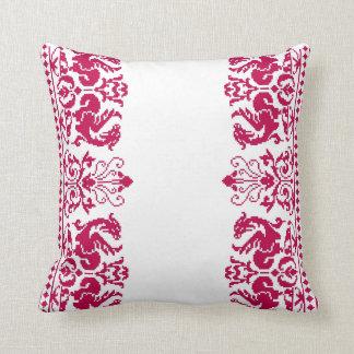 Rudiy Drakoni ~ Red Dragons Square Pillow