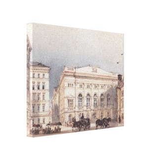 Rudolf Alt- Lower Austrian country house Gallery Wrap Canvas