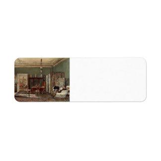 Rudolf Alt-Morning Room of the Palais Lanckoronski Custom Return Address Labels