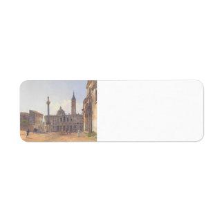 Rudolf Alt- The Basilica of Santa Maria Maggiore Labels