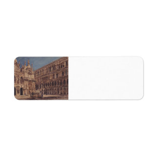 Rudolf Alt- The courtyard of the Doge's Palace Return Address Labels