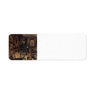 Rudolf Alt- The Office of Count Lanckoronski Custom Return Address Labels