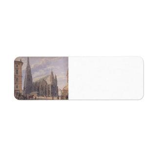Rudolf Alt- The St. Stephen's Cathedral in Vienna Return Address Labels