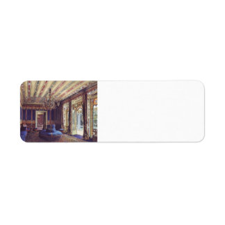 Rudolf Alt-Turkish Salon,Villa Hügel, Hietzing Return Address Label