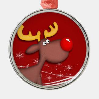 Rudolf Christmas Metal Ornament