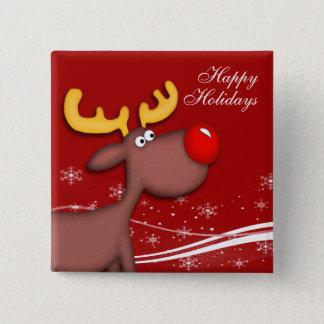 Rudolf Christmas Pinback Button