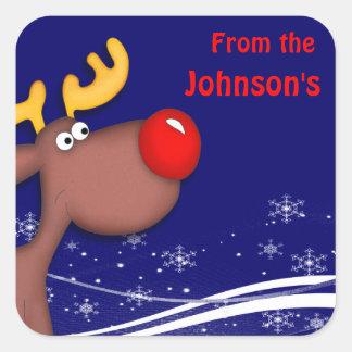 Rudolf Christmas Square Sticker