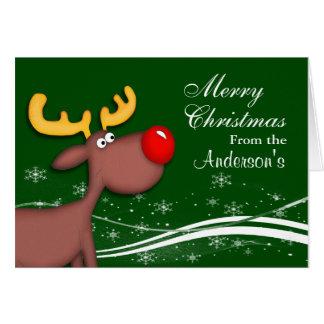 Rudolf Christmas Stationery Note Card