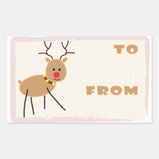 Rudolf el pegatina sospechado rojo del reno