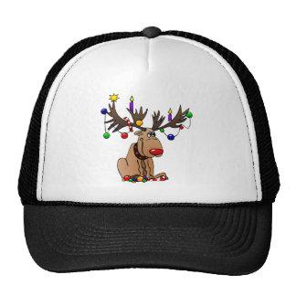 Rudolf el reno sospechado rojo gorra