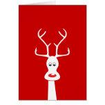 RUDOLF & FAMILY CARD WHITE + RED
