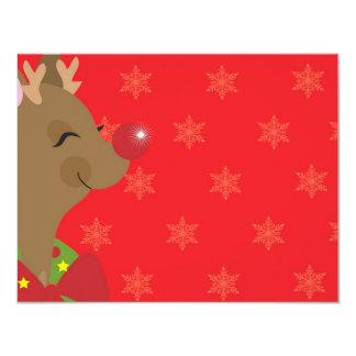 RUDOLF FRAME 4.25X5.5 PAPER INVITATION CARD