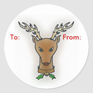 Rudolf Gift Tag Stickers