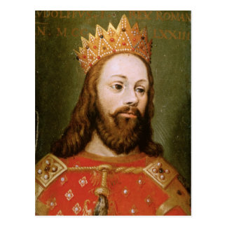 Rudolf I  uncrowned Holy Roman Emperor Postcard