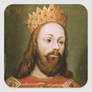 Rudolf I  uncrowned Holy Roman Emperor Square Sticker